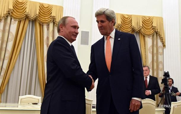 Керрі зустрівся в Кремлі з Путіним