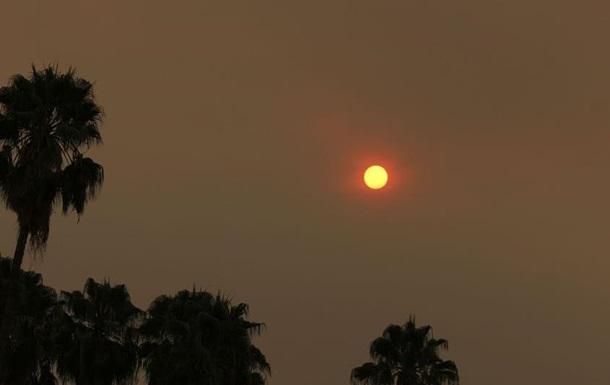 Апокалиптическое  солнце напугало жителей Лос-Анджелеса