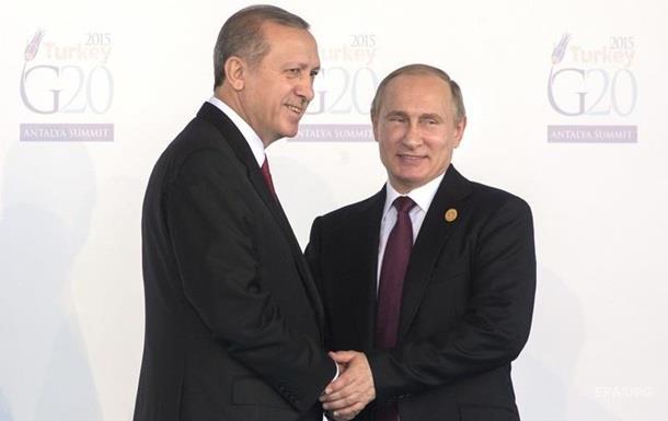 Анкара поблагодарила Путина за поддержку