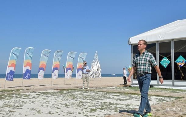 Киев отреагировал на визит Медведева в Крым