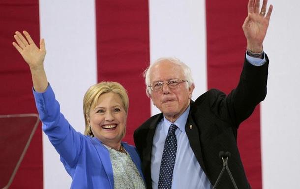 Сандерс закликав американців голосувати за Гілларі Клінтон