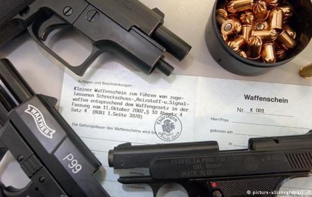 В ФРГ удвоилось число заявок на ношение оружия