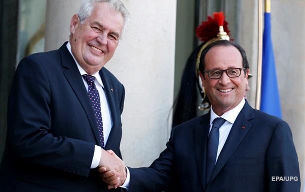 Президенты Чехии и Франции обсудили перспективы ЕС и санкции против РФ