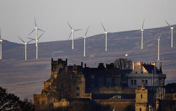 Шторм обеспечил электричеством всю Шотландию