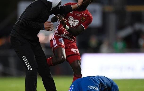 У Швеції фанат  вирубав  воротаря під час матчу