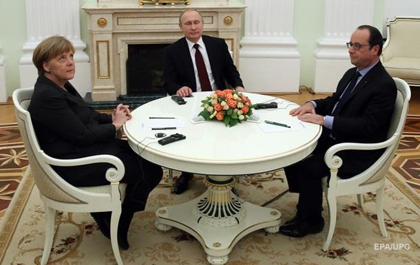 Меркель і Олланд обговорять з Путіним заручників
