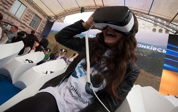 В центре Киева  прошло массовое тестирование виртуальных очков