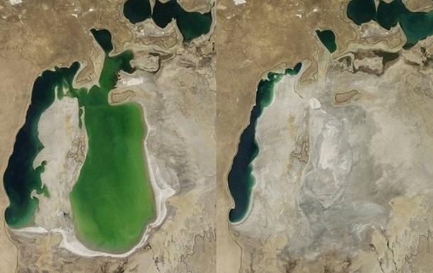 NASA показало, как высыхало Аральское море