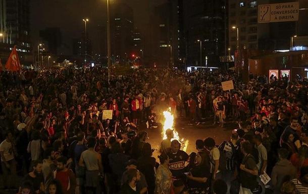 Поліція в Сан-Паулу розігнала акцію проти нового президента Бразилії