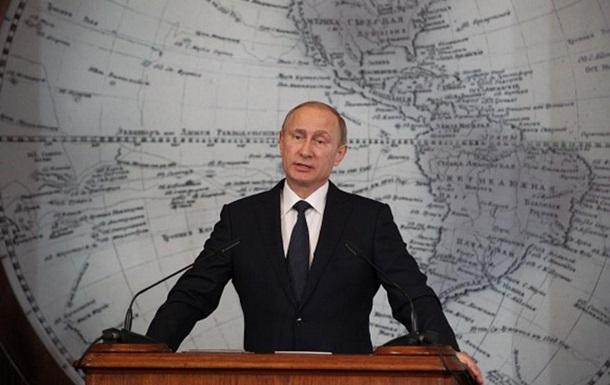 Путін: РФ прагне до більшого світового впливу
