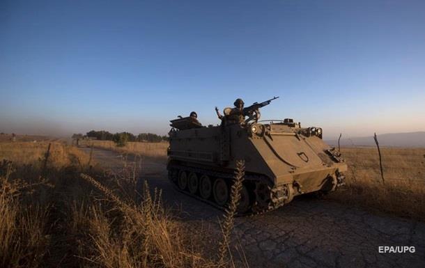 Израиль обстрелял сирийскую армию на Голанских высотах