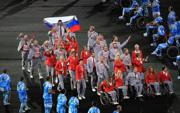 Білорус з прапором Росії знятий з Паралімпіади