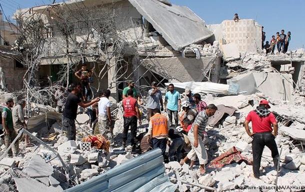 Через авіаудари в Сирії загинуло близько 100 осіб
