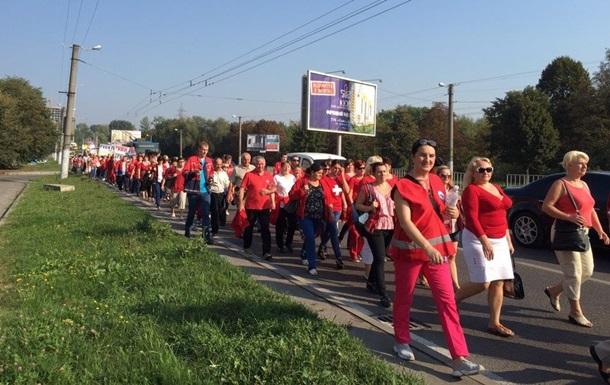 У Львові медики вийшли на мітинг