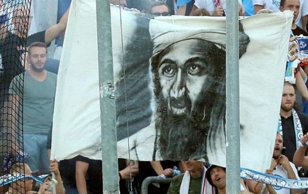 Болельщики Ганзы разместили на трибунах баннер с портретом Усамы бен Ладена