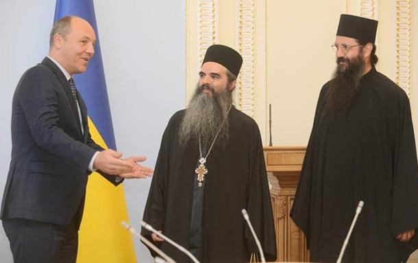 Парубій з афонськими ченцями обговорив майбутнє церкви України