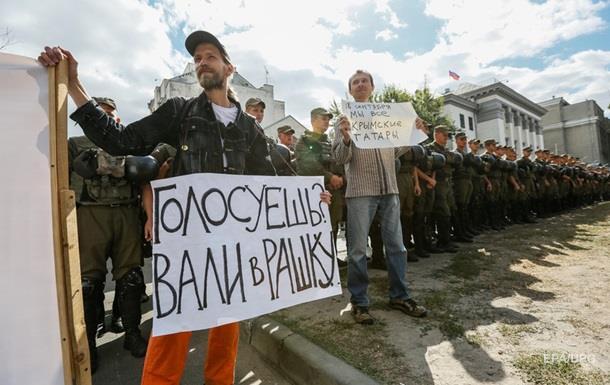 Протест під посольством РФ у Києві завершився