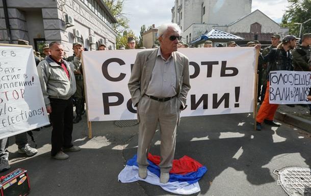 С яйцами и драками. Российские выборы в Украине