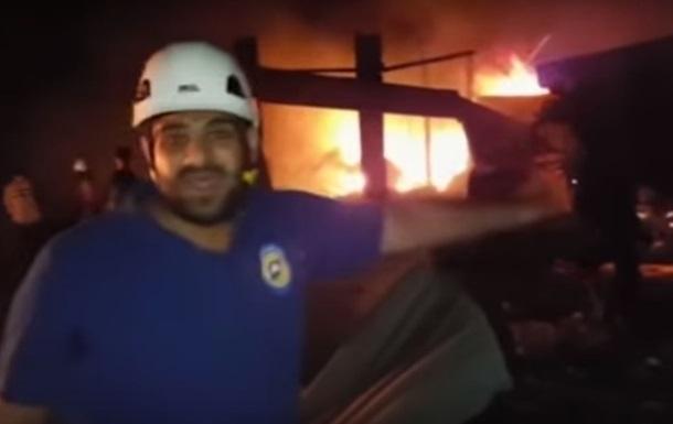 Появилось видео авиаудара по гумколонне в Сирии