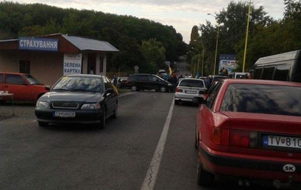 В Ужгороді блокують пункт пропуску зі Словаччиною