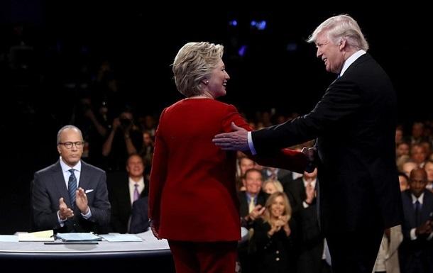 Дебаты Трампа и Клинтон установили рекорд на ТВ