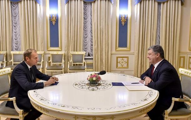 Туск: ЕС готов продолжать поддержку Украины