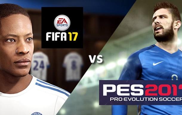 FIFA 17 продається в 40 разів краще, ніж PES 2017
