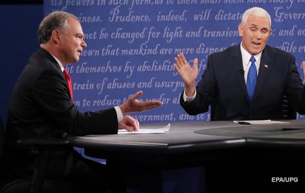 В США прошли дебаты кандидатов в вице-президенты