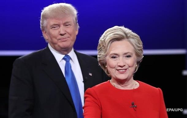Рейтинг Трампа знову вищий, ніж у Клінтон