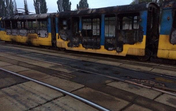 У київському депо згорів новий трамвай