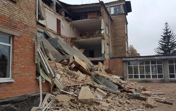 У Київській області завалилася школа