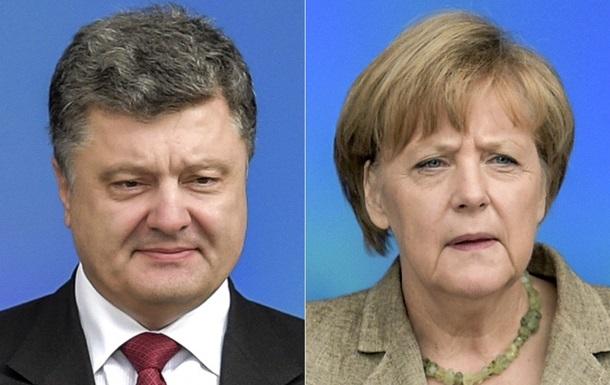 Порошенко і Меркель обговорили ситуацію на Донбасі