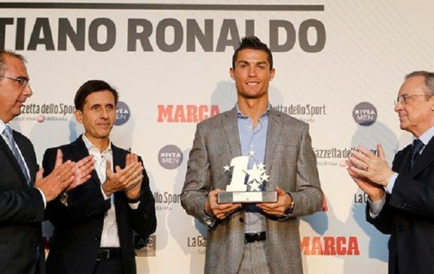Криштиану получил награду  Лучший игрок Лиги чемпионов-2016