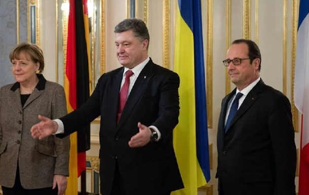 Порошенко поговорил с Меркель и Олландом