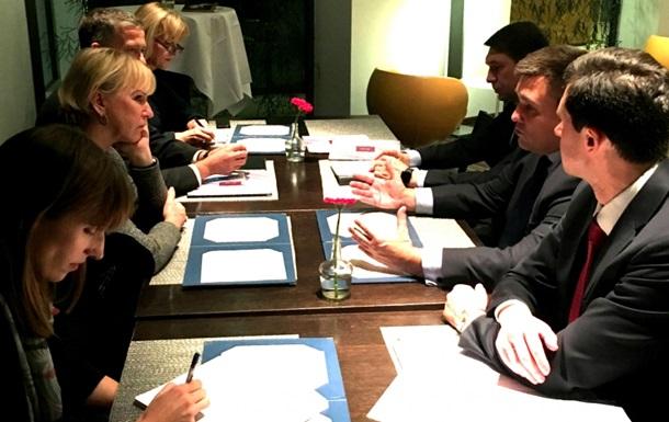 Климкин и глава МИД Швеции обсудили предстоящий визит Порошенко