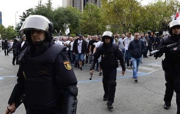 Польские фанаты подрались с полицией Мадрида