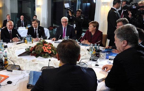 Порошенко і Путін не потиснули рук у Берліні