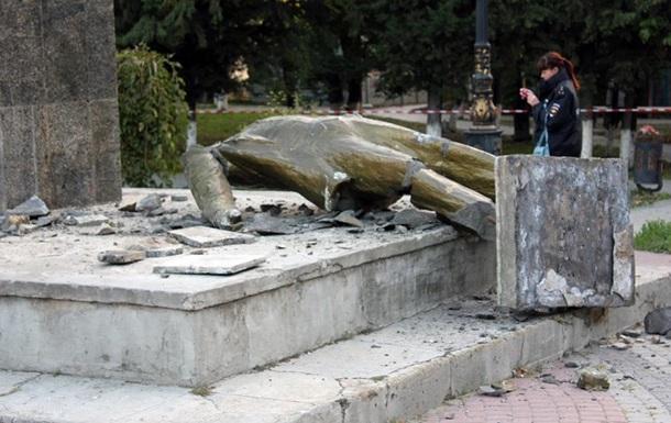 У Судаку зруйнували пам ятник Леніну