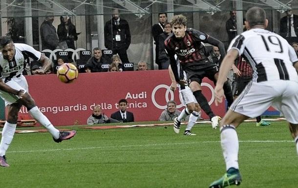 Серия А, Милан минимально обыгрывает Ювентус