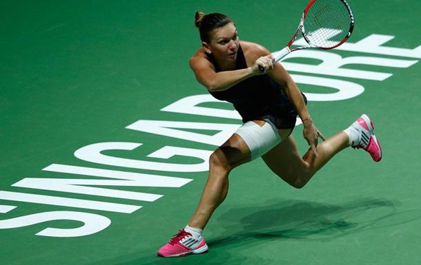 WTA Finals. Халеп обыграла Киз в матче-открытии