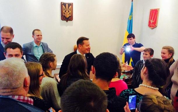 Зустріч Олега Ляшка з вихованцями Яблунівської школи-інтерната
