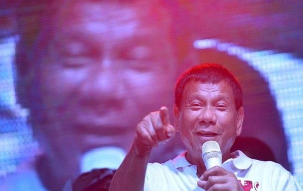 Філіппінський президент назвав Путіна своїм кумиром