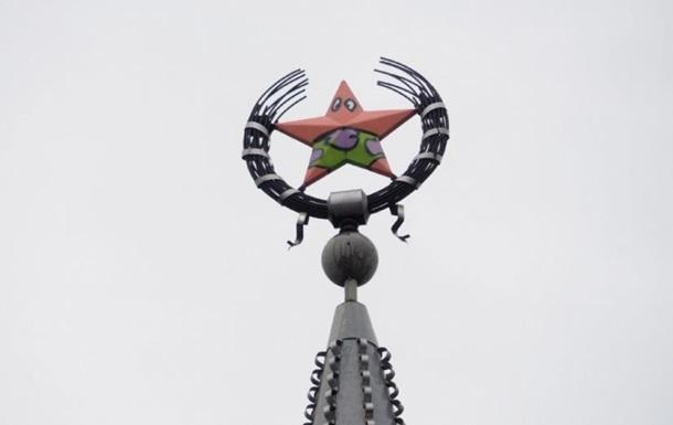 У Воронежі пофарбували зірку в героя з Губки Боба