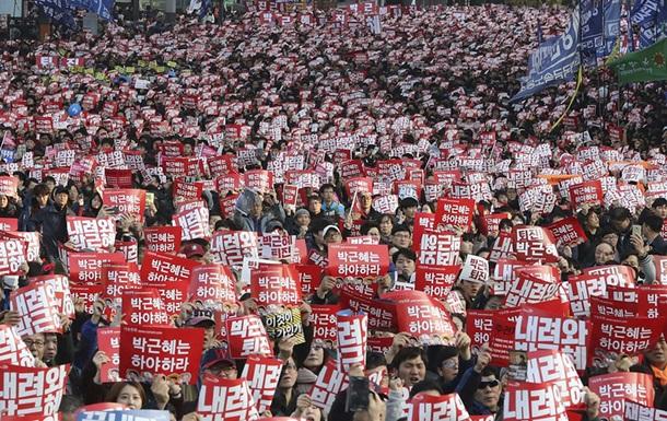 У Південній Кореї майже мільйон демонстрантів вимагають відставки президент