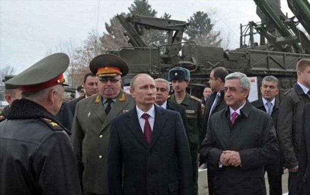 Путін схвалив угруповання військ Росії і Вірменії