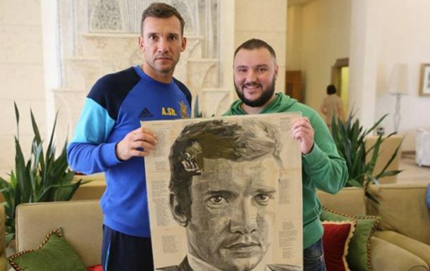 Портрет футболіста Шевченка написали віршами Шевченка