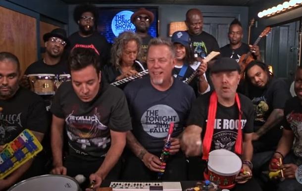 Metallica исполнила хит на игрушечных инструментах