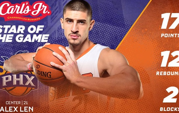 Чергова хороша гра українця в НБА