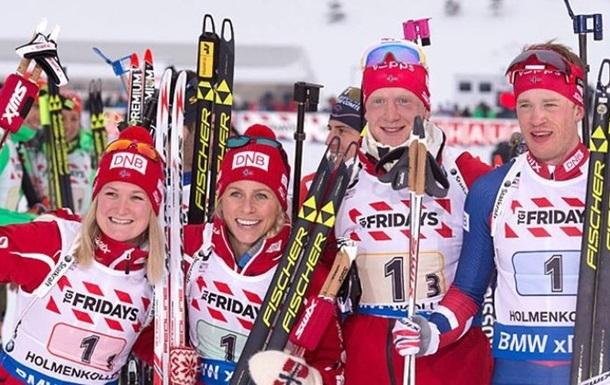 Біатлон. Норвегія - переможець змішаної естафети