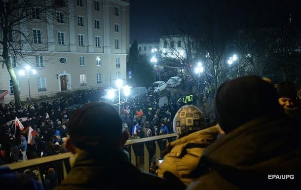 У Варшаві протестувальників розганяли газом